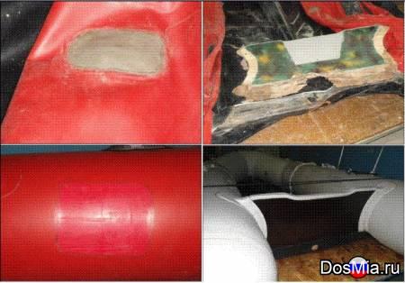 Ремонт надувных лодок из ткани ПВХ