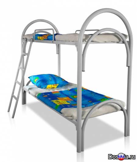 Металлические кровати с ДСП спинками для гостиниц, кровати для больниц.