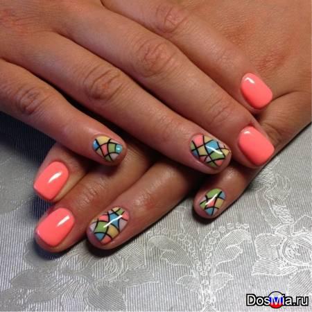 Ногти летние шеллак