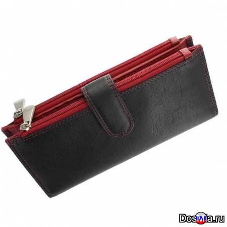 Женское портмоне Visconti Jade CD 23 black-red