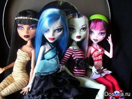 Большой выбор кукол Monster High и Ever After High, карнавальных костюмов.