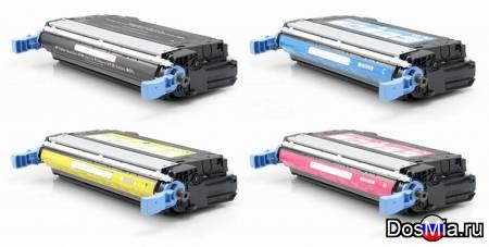 Заправка цветного принтера HP CLJ 4700