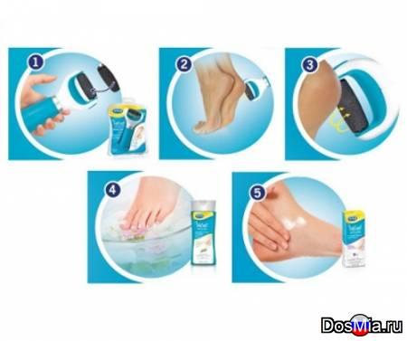 Электрическая роликовая пилка для удаления огрубевшей кожи