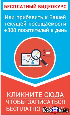 Курс как раскрутить сайт до 300 посетителей в день