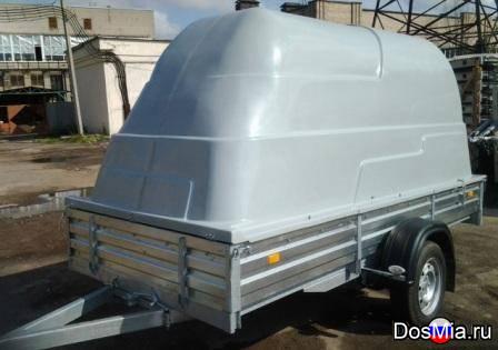 Легковой прицеп МЗСА 817711 с пластиковой крышкой для снегохода