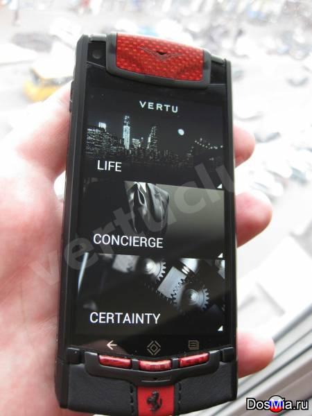 Копия телефона Vertu Ti Ferrari L.E.