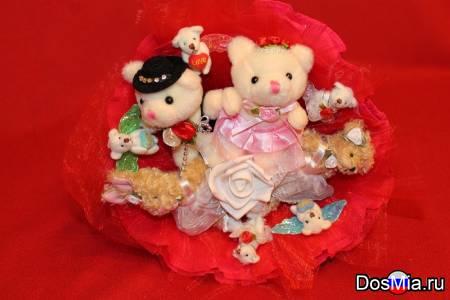 Свадебный букет из игрушек