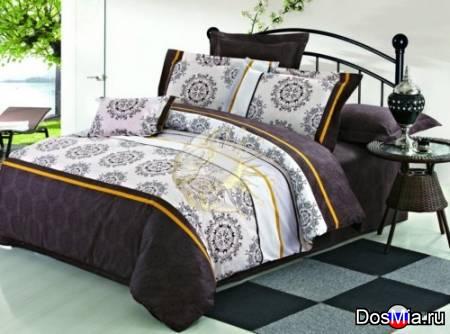 Двухспальный комплект постельного белья из поплина