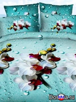 Комплект постельного белья из сатин арома 5D евро