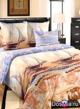Комплект постельного белья из бязи евро круиз