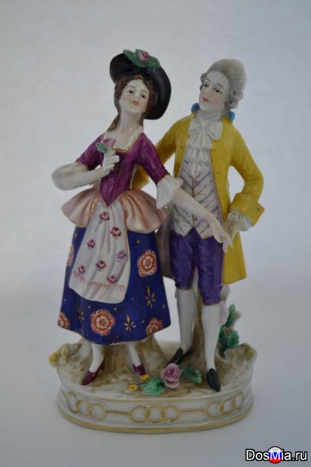"Статуэтка ""Кавалер с дамой"", Европа, XIX век."