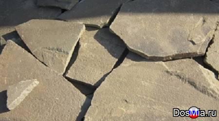 Камень песчаник природный серый
