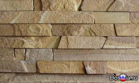 Фасадно-стеновая нарезка-лапша из песчаника природного