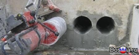 Алмазное сверление отверстий в бетоне и кирпиче