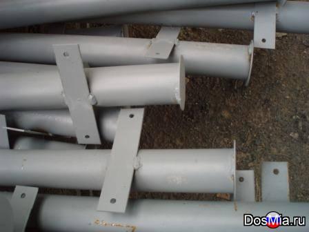 Продаем металлические столбы с заглушкой сверху от воды