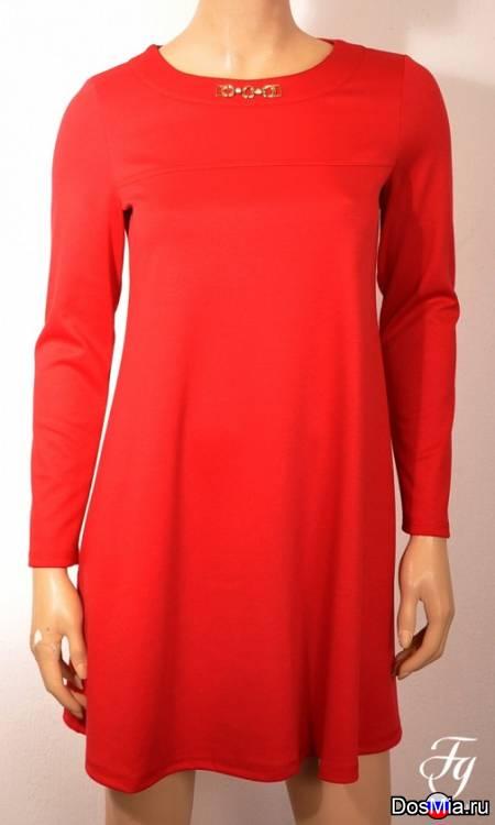 Платье 362 лакоста красная