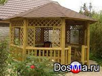 Беседки и садовая мебель из массива дерева
