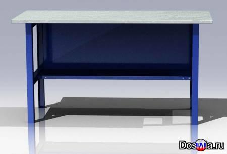 Верстак слесарный, металлический, производственный стол.