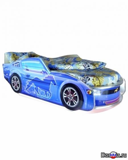 Кровать Мустанг 70x150 синяя Vivera