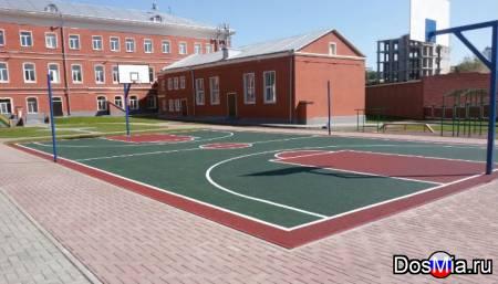 Резиновое бесшовное покрытие для детских и спортивных площадок