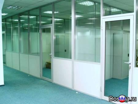 Стеклянные перегородки офисные, мобильная перегородка.