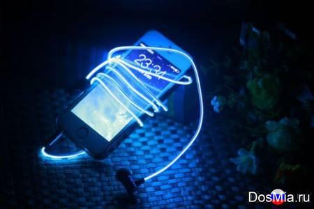 Светящиеся наушники Glow с EL