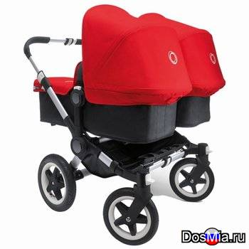 Прогулочная коляска Bugaboo Donkey Twin Extendable Silver Complete Stroller