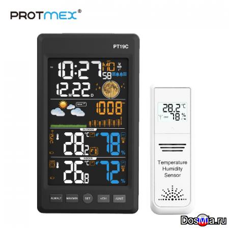 Protmex 19C метеостанция c наружными беспроводными датчиками