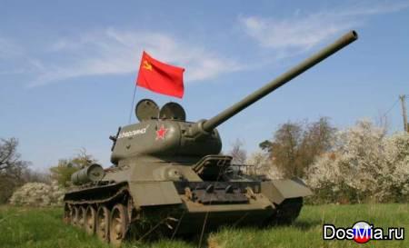 Танк Т-34 на ходу