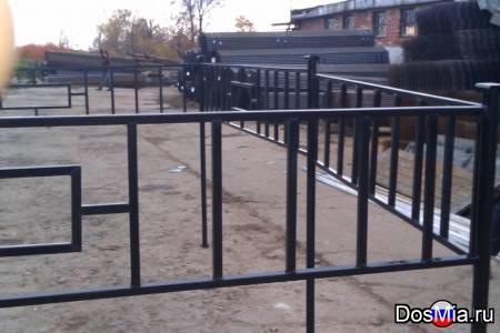Металлические ритуальные ограды из профильной трубы