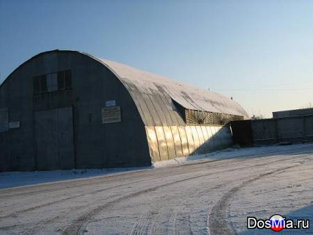 Тёплый ангар 540 м2 с кран-балкой и огороженной территорией 1250 м2