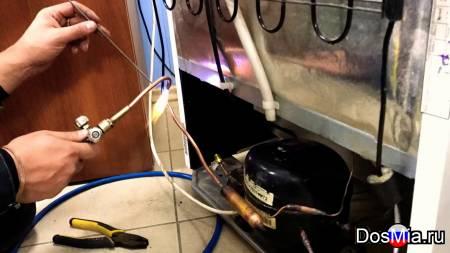 Устранение утечки фреона в холодильнике