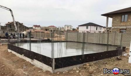 Устройство фундамента под заборы, дома, основания бассейнов.