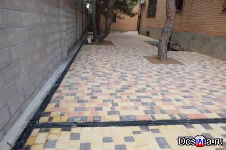 Укладка тротуарной плитки, благоустройство дворов, парков, улиц.
