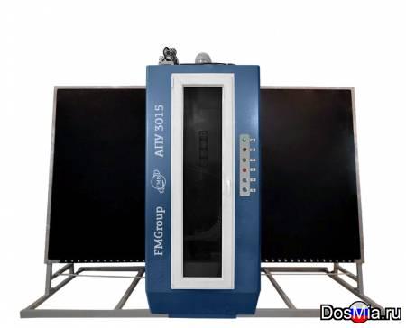 Автоматизированная пескоструйная установка обработки поверхности стекла