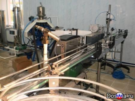 Линия розлива газ. воды и напитков ПЭТ-тару, 600 б./час.