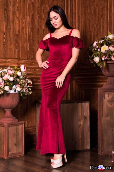 Платье велюровое Аманда