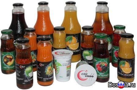 Газированные напитки, соки и вода.